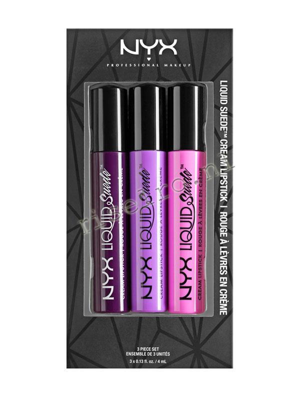 NYX Liquid Sueam Cream lipstick Set 01