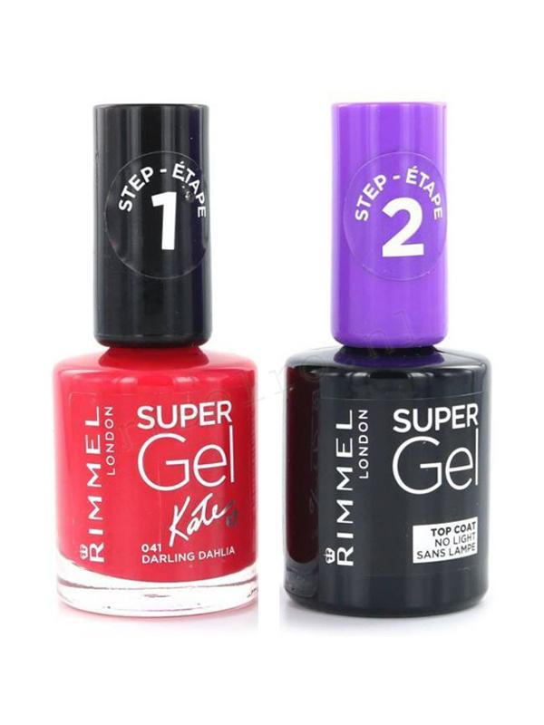 Rimmel London Super Gel Duo Nail Polish Without Box 041 Darling ...