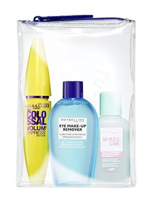 Maybelline The Colossal Volum Express Glam Black Mascara + Eye Make-up Remover 25ml + Nail Polish Remover 25ml